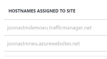 Traffic Manager domain name added