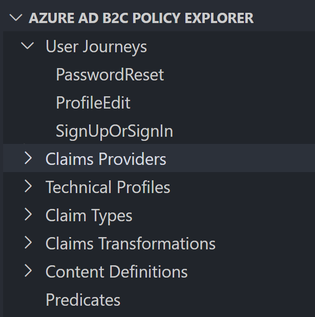 Policy explorer outline of the starter pack base policy