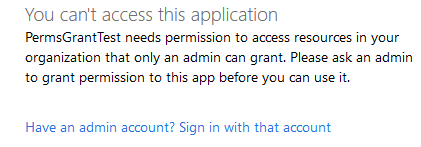 Option to log out and sign back in as admin