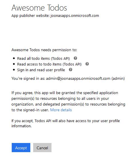 Consent app permission